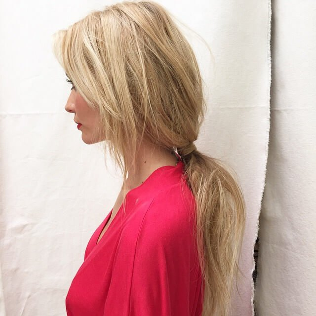 Artfully Messy Low Ponytail Styles