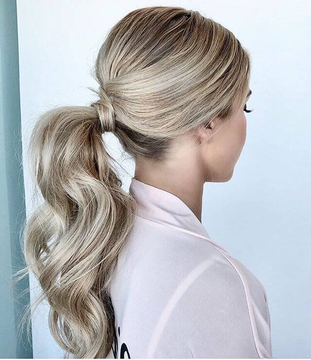 Curled and Perky Ponytail Style Lift