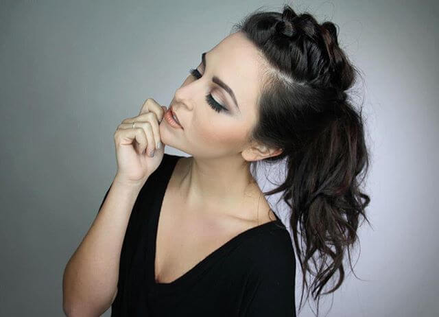"Loose Top ""Braid and Pony"" Hairstyle"
